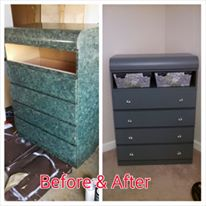 An old dresser that I found and refinished into something I love